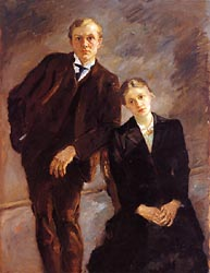 Portrait of Max Beckmann and Minna Beckmann-Tube 1909