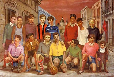 Team de Football o Campones del Barrio, 1954