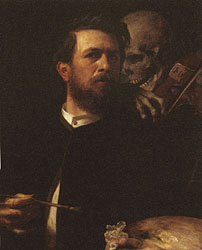Self-Portrait with Death Playing the Fiddle, 1871-74