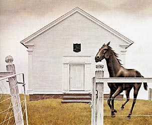 Church and Horse, 1964