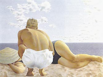Couple on Beach, 1957