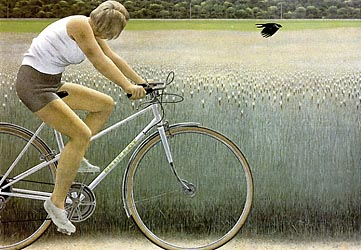 Cyclist and Crow, 1981