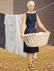 Woman at Clothes-line, 1956-57