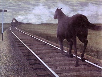 Horse and Train 1954