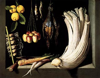 Still Life with Dead Birds, Fruit and Vegetables, 1602