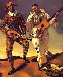 Harlequin and Pierrot, 1924