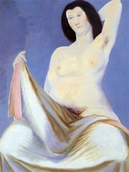 Seated Nude with Dark Hair 1930