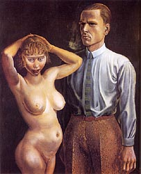 Self portrait with Naked Model 1925