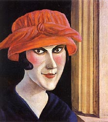 Woman with Red Hat 1921