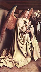 The Ghent Altarpiece - Angelof the Annunciation, 1432