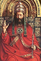 The Ghent Altarpiece - God Almighty, 1432