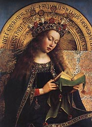 The Ghent Altarpiece - Virgin Mary, 1432