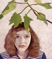 Girl with Leaves 1948