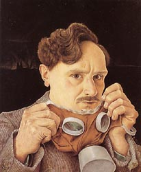 Self-Portrait with Gas Mask, 1930