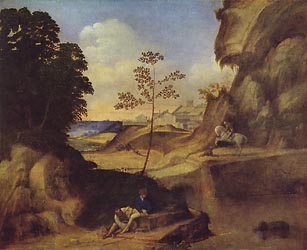Landscape with Sunset, c1505
