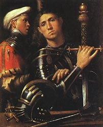 Portrait of a Warrior with his Equerry, 1509