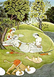 Rama and Sita in the Forest - Kangra style, c1780