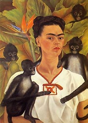 Self Portrait with Monkeys 1943