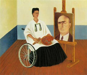 Self Portrait with the Portrait of Doctor Farill 1951