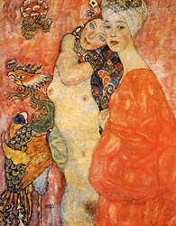 Girl Friends (detail), 1916-17