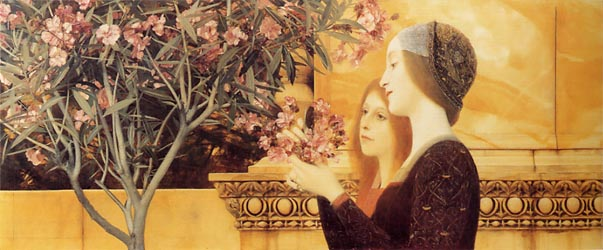 Two Girls with an Oleander, c1890-92