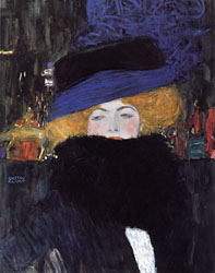 Woman with a Hat and Feather Boa, 1909