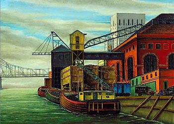 East River, 1934 by Jara Henry Valenta