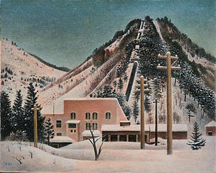 Power Plant in the Snow 1956 by Oka Skikanosuke