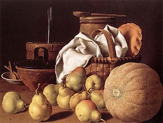 Still Life with Melon and Pears, 1770