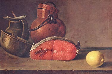 Still Life with Salmon, Lemon and three Vessels, 1772