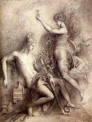 Hesiod and the Muse, 1857