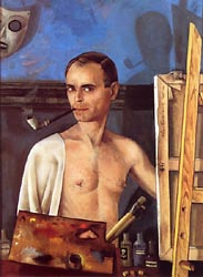 Self Portrait ath the Easel 1943