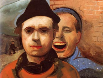 Self Portrait with Brother 1937