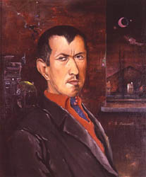 Self Portrait with Red Vest 1930
