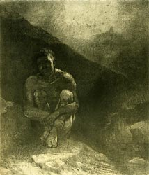 Primitive Man (Seated in Shadow), 1872