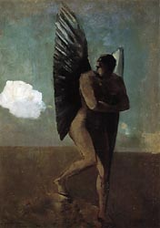 Fallen Angel Looking at a Cloud, c1875