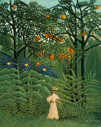 Woman Walking in an Exotic Forest 1905