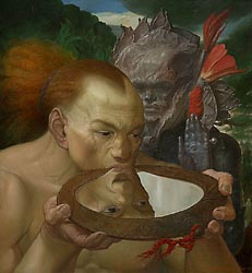 The Mirror Drinker, 2005 (65x60cm)