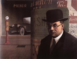 Self in Front of an Advertising Column 1926