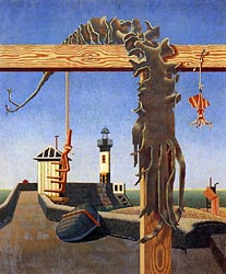 Quiet Outlook Seaweed and Lighthouse, 1942