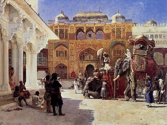 Arrival of Prince Humbert, The Rajah, at the Palace of Amber, c1888