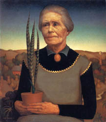 Woman with Plant 1929